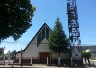 Iglesia de Santa Bárbara, situada en la Plaza de Armas.